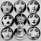 "Reproduction Replica Fornasetti 7"" Plate Ceramics Dish Art Nouveau Home Desk Dec"
