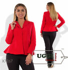 Elegant Woman Jacket Suiting fabric Long sleeve Casual Wear to work- Plus size