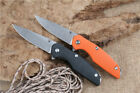A0065 Bear D2 Blade G10 Handle Folding Survival Camping Hiking Knife EDC Tools