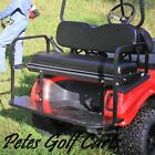 Rear Flip Seat Kit For Club Car DS Golf Cart In Colors Black White Buff or Tan