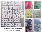 """ADVENT IRON ON DIE CUT FABRIC NUMBERS ! 1-25!! aprox 3/4"""" inches Craft/Christmas"""