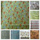 Fabric material Pigs / Hogs  Birds Wheat Flowers  The Owls are Flannel