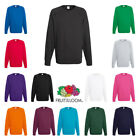 Fruit of the Loom RAGLAN Sweat Sweatshirt Top Jumper Plain Sweater Wholesale