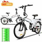 Hot Folding E-Bike Electric Bicycle Adult Mountain Bike 21mph w/Lithium Battery
