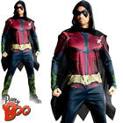 Robin Mens Fancy Dress Batman Arkham City DC Superhero Halloween Adults Costume
