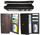 Woman's 8 pocket leather checkbook wallet Credit card photo ID change purse BNWT