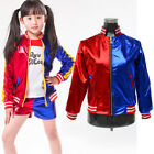 Kids Girl Harley Quinn Coat Jacket Tops Outfit Halloween Costume Cosplay Outwear