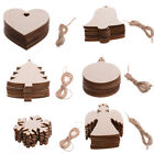 Christmas Decorations Tree Wooden Heart Shapes Blank Painting Craft Hanging Gift