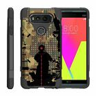For LG V Series Phone Case Slim Dual Layer Hybrid Kickstand Cover Military War