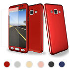 For Samsung Galaxy J3 Proceed J327 360 Full Protective Hard Case + Glass Screen