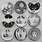 Fornasetti Illustrator decorative plate lady face printing on ceramic dish craft