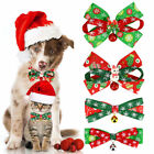 Christams Adorable Pet Bow Ties,- 4-pack Adjustable Neck Tie Dog Cat