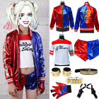 Halloween Costume Suicide Squad Harley Quinn T shirt Jacket Coat Shorts Set Lot