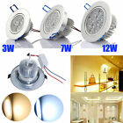 day light lamp - Lot 3W 7W 12W LED Downlight kit Recessed Ceiling Light Lamp Bulb Cabinet+Driver