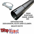 STAINLESS 304  EXHAUST DECAT PIPE CONNECTOR TUBE REPIR SECTION WITH U BOLT CLAMP