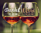 1 x Custom Name Date Wedding Wine Glass Decal Sticker Bridal Party Gift