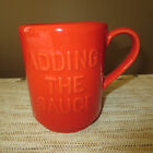 KATE SPADE ALL IN GOOD TASTE RED ADDING THE SAUCE STACKABLE TEA COFFEE MUG-NEW!