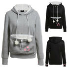 Womens Cat Claw Hoodie Hooded Cuddle Pouch Pocket Casual Pullover Sweatshirt