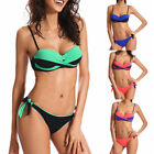 Womens Push-up Padded Bandage Bikini Set Swimsuit Triangle Swimwear Bathing Suit