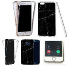 for iphone 4 case 360° shockproof cover -audacious marble