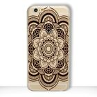 HENNA Paisley Mandala Tribal Clear Case Cover iPhone 5 5S SE 6 6S 7 8 Plus X