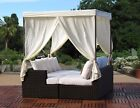 Sanda Contract Quality Outdoor Resin Wicker Daybed Fully Assembled