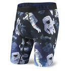 SAXX NEW Mens Black Fuse Long Leg Boxer Spaceman BNWT