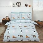 Rapport Blue Winter Animals Polar Bear Reindeer 100% Brushed Cotton Bedding