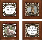 CUSTOM DOG or CAT Photo Memorial Framed Ceramic Tile - Forever Remembered