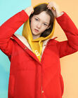 Women's Ligth With Hat Length Soft Fashion Down Jacket Colorful 3 colors