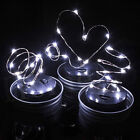 10 LEDs Fairy Mason Jar Lids Light Solar Powered Outdoor Garden Decorative Lamp