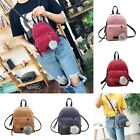 Fashion Women Mini Velvet Backpack Girl School Shoulder Bag Travel Rucksack Bags