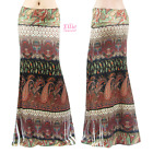 Boho Paisley Floral Sublimation long maxi skirt (S/M/L/XL/1XL/2XL/3XL)