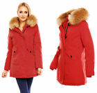 MAYAADI DAMEN WINTER PARKA JACKE 100% ECHT PELZ XXL FELL RACCOON MANTEL HS-6015
