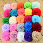 Hand Roll Chiffon Fabric sewing Hair Flowers Appliques 7CM Clothing  Accessories