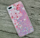 Luxury Glitter Hearts Liquid Back Phone Case Cover for Apple iphone 5/SE/6/6s+/7 фото