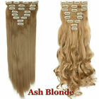 Mega Thick Real Natural as human Hair 8Pcs Full Head Clip In Hair Extensions lzy