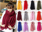 New Ladies Soft Wrap Plain Hijab Scarf Fashion Large Maxi Headscarf Womens Shawl