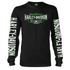 Harley-Davidson Military Long-Sleeve Crew Neck Graphic T-Shirt - Ramstein AB | V image