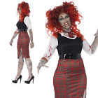 Curves Zombie schoolgirl plus size Halloween dressing up costume outfit adult