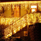 Christmas LED Indoor Outdoor String Lights Curtain Icicle Drop LED Party Garden