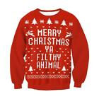 Unisex Mens Womens Ugly Christmas Sweater President Trump Xmas Knitted Pullover