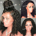 Full Lace Front Wigs Brazilian Curly Remy Human Hair Lace Wigs Glueless Wigs
