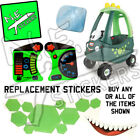 Replacement Little Tikes cozy coupe DINO stickers dials, mirror + mouth car toy
