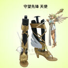 2017 New Overwatch OW - Mercy Winged Victory OW Boots Cosplay Game shoes