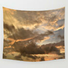 Wall Tapestry Wall Hanging Printed USA Photo 38 sky orange sunset clouds L.Dumas