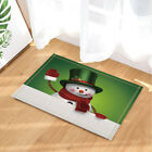 Christmas funny snowman Shower Curtain Bathroom Fabric & 12hooks 71*71inches
