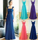 Formal Prom Chiffon Evening Party Ball Gown Bridesmaid Dress Stock Size 6-20