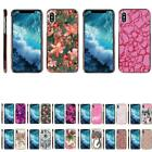 For Apple iPhone X / iPhone 10 Slim Hard Cover Clip On Case w/ Pink Color Edges