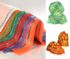 Net Woven Sacks With Drawstring Raschel Bags Mesh Vegetables Logs Wood Kindling